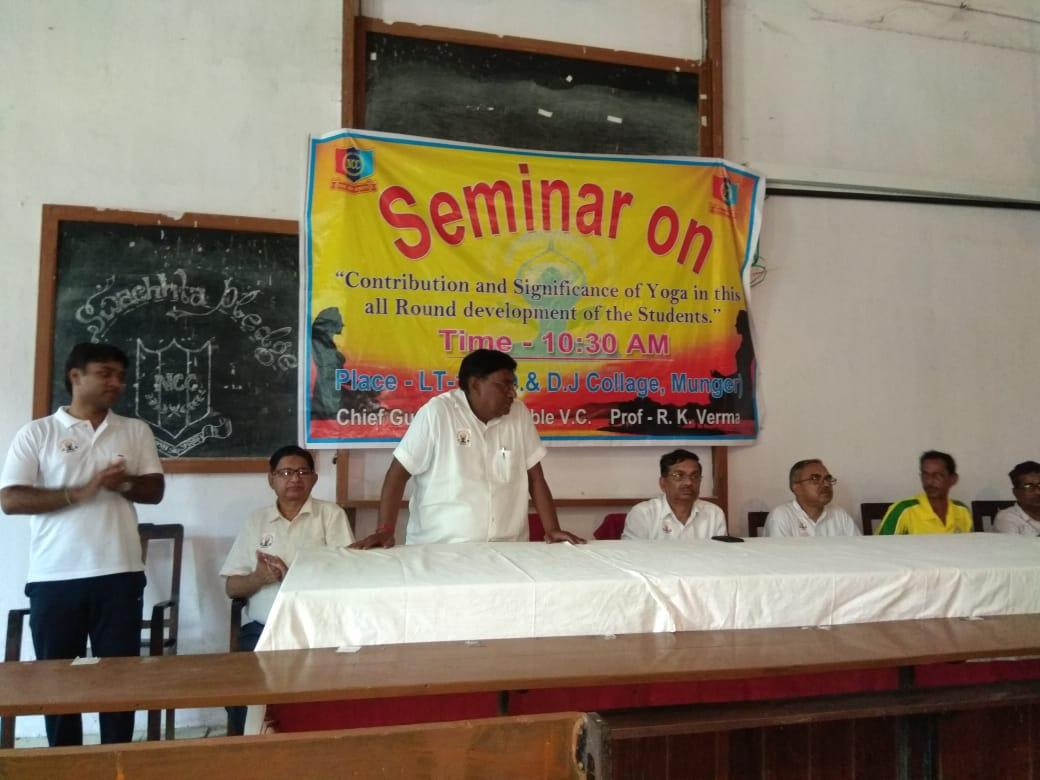 Seminar on International Yoga Day 21st, June 2018